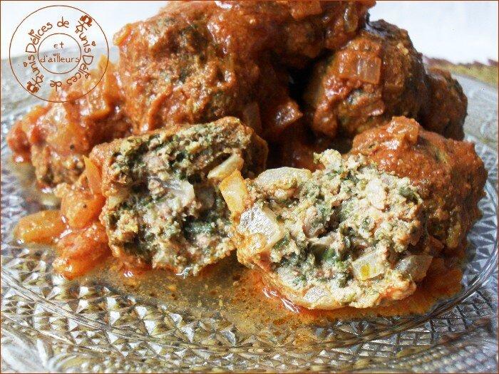 boulettes de viande aux épinards - tunisie 2