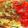 Omelette aux fleurs de courgettes