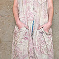 1-MP Delia dress with front button , pockets patches and mending, Jayne Austin.jpg