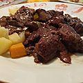 Seitan au vin rouge et aux cèpes