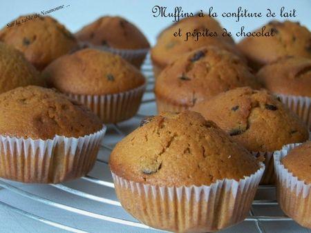 Muffins à la confiture de lait et pépites de chocolat 2