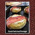 Fond d'artichaut fromager