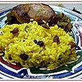 Poulet à la cardamome et riz oriental
