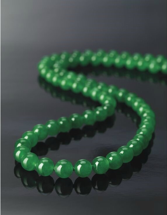 Exceptional Jadeite Bead and Diamond Necklace3