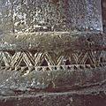 archéologie du bâti,art roman, base colonne Sud du choeur