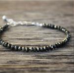 bracelet pierres de gemmes pyrite