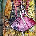 Tag vintage 'paris' / a vintage tag on paris... very messy!