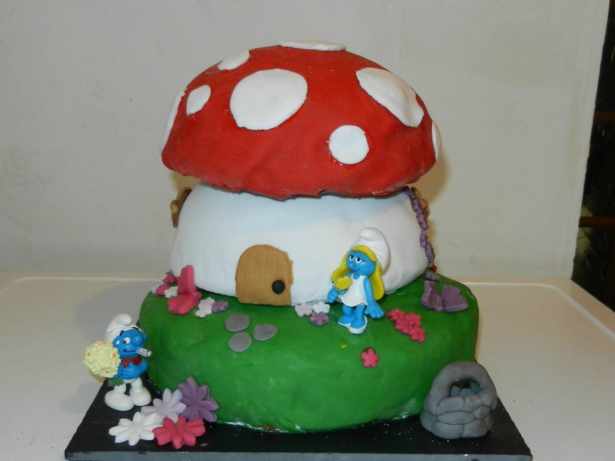 Gâteau Maison des schtroumpf