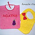 Bavoirs pour Agathe