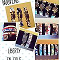 Bracelets liberty du simple au double.