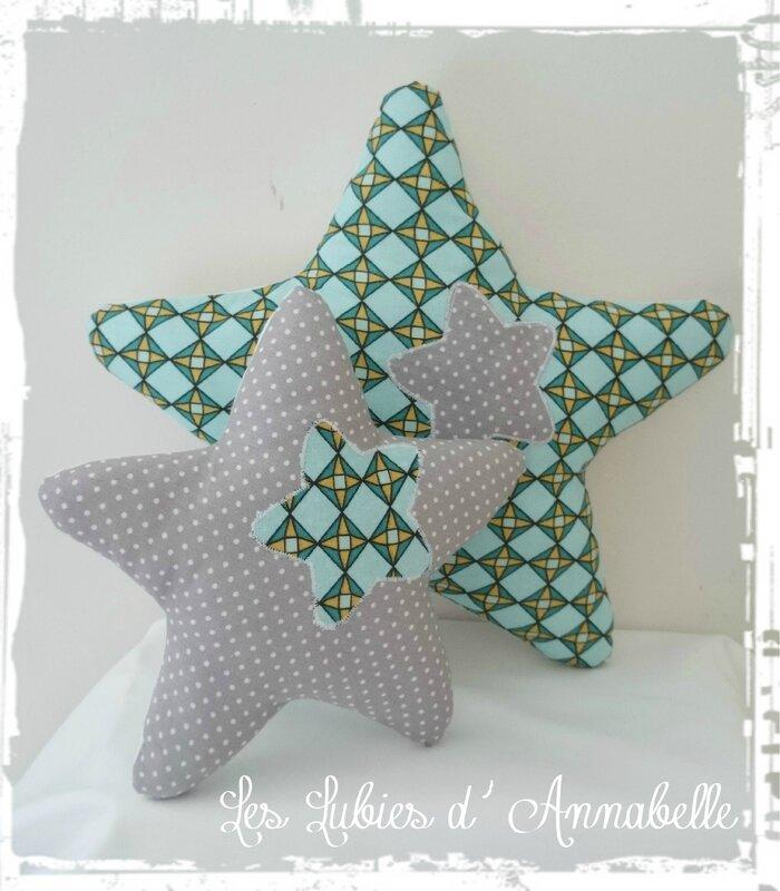 étoile coussin