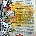 Bible art journaling - matthieu 28 - vidéo tuto