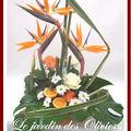 composition florale oiseaux du paradis
