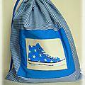 sac chaussure bleu