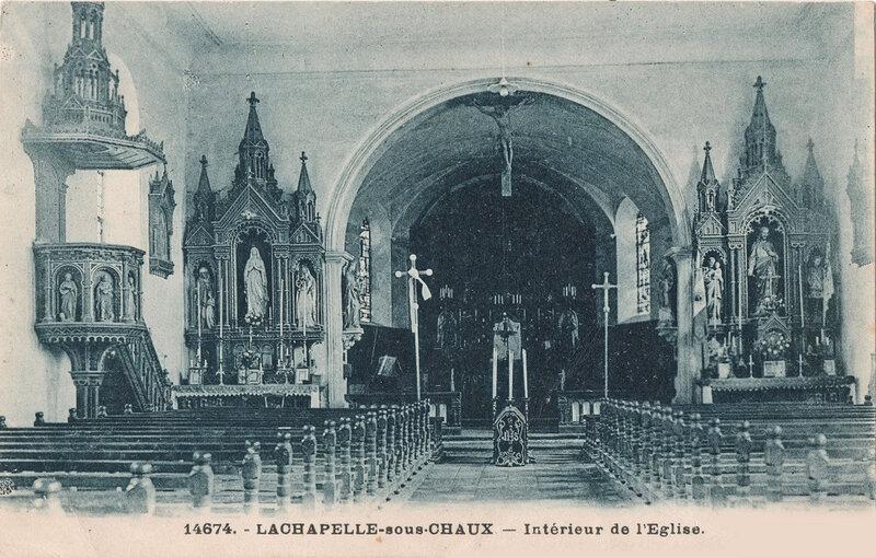 CPA Lachapelle sous Chaux L'église BF5