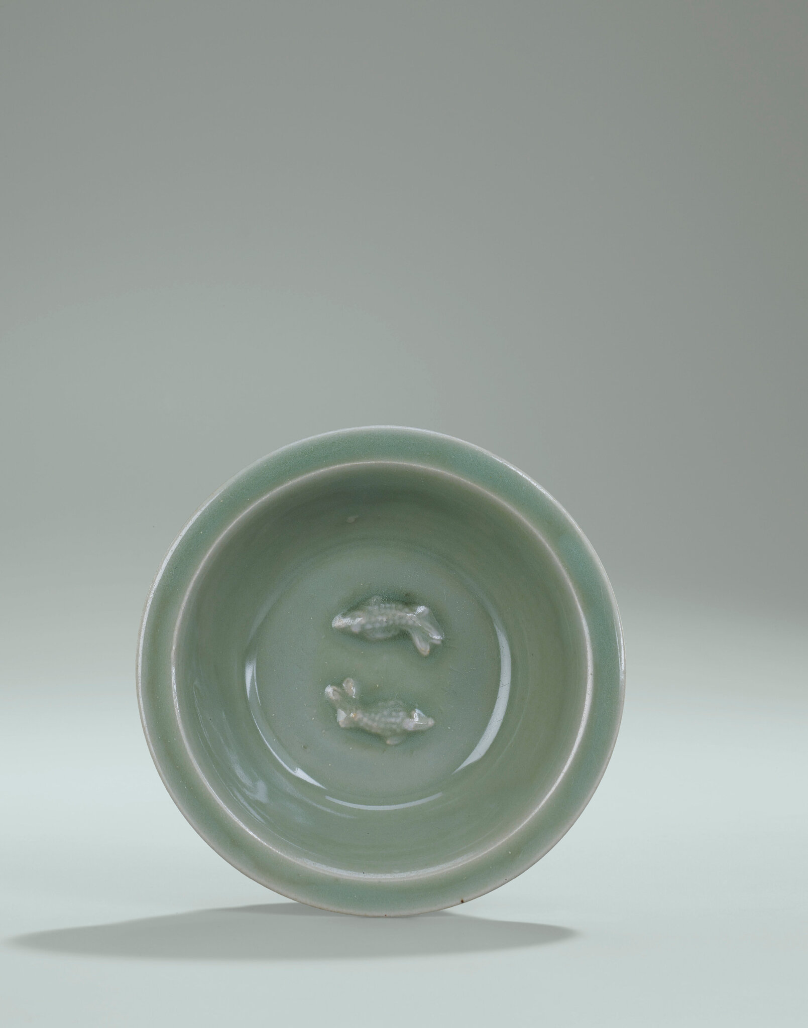 A Longquan Celadon Twin-Fish Dish, Southern Song Dynasty (1127-1279)