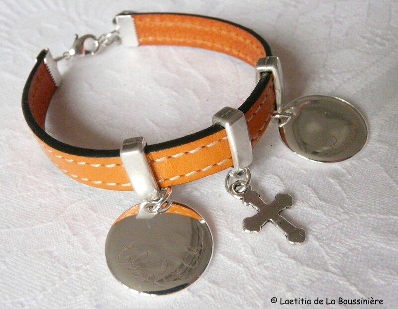 Bracelet sur cuir personnalisé