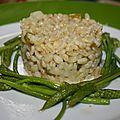 Blesotto aux ornithogales et asperges vertes