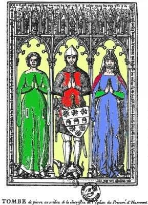Tombeau de Guillaume Tirel et de ses deux femmes