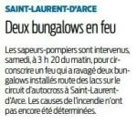 2018 03 11 SO Incendie de 2 bungalows