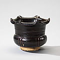 A Cizhou foliate-rimmed ribbed jar, Northern Song dynasty, 11th century
