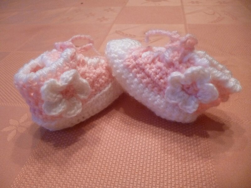 Chaussons roses (4)