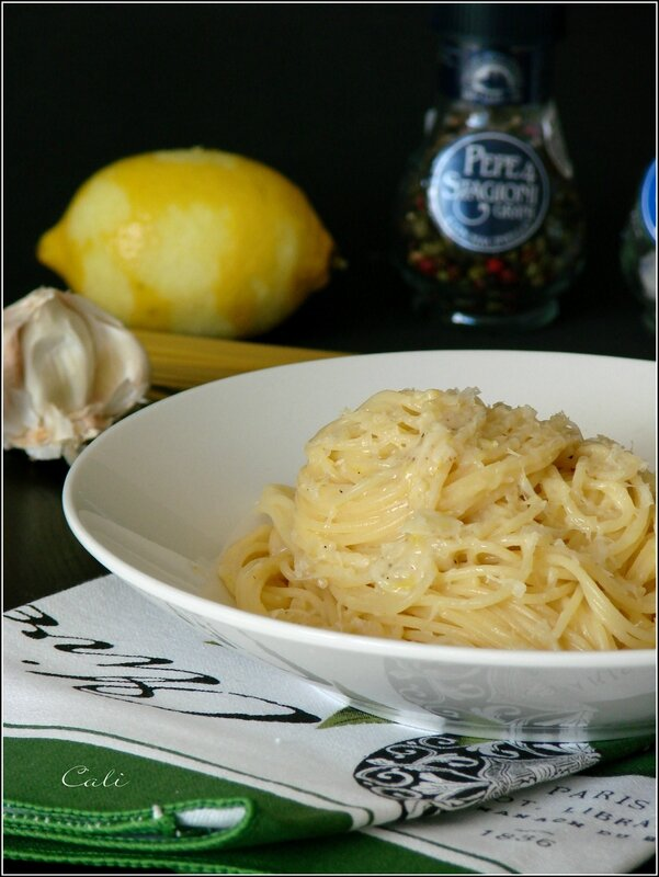 Spaghettini à l'Ail & au Citron 003