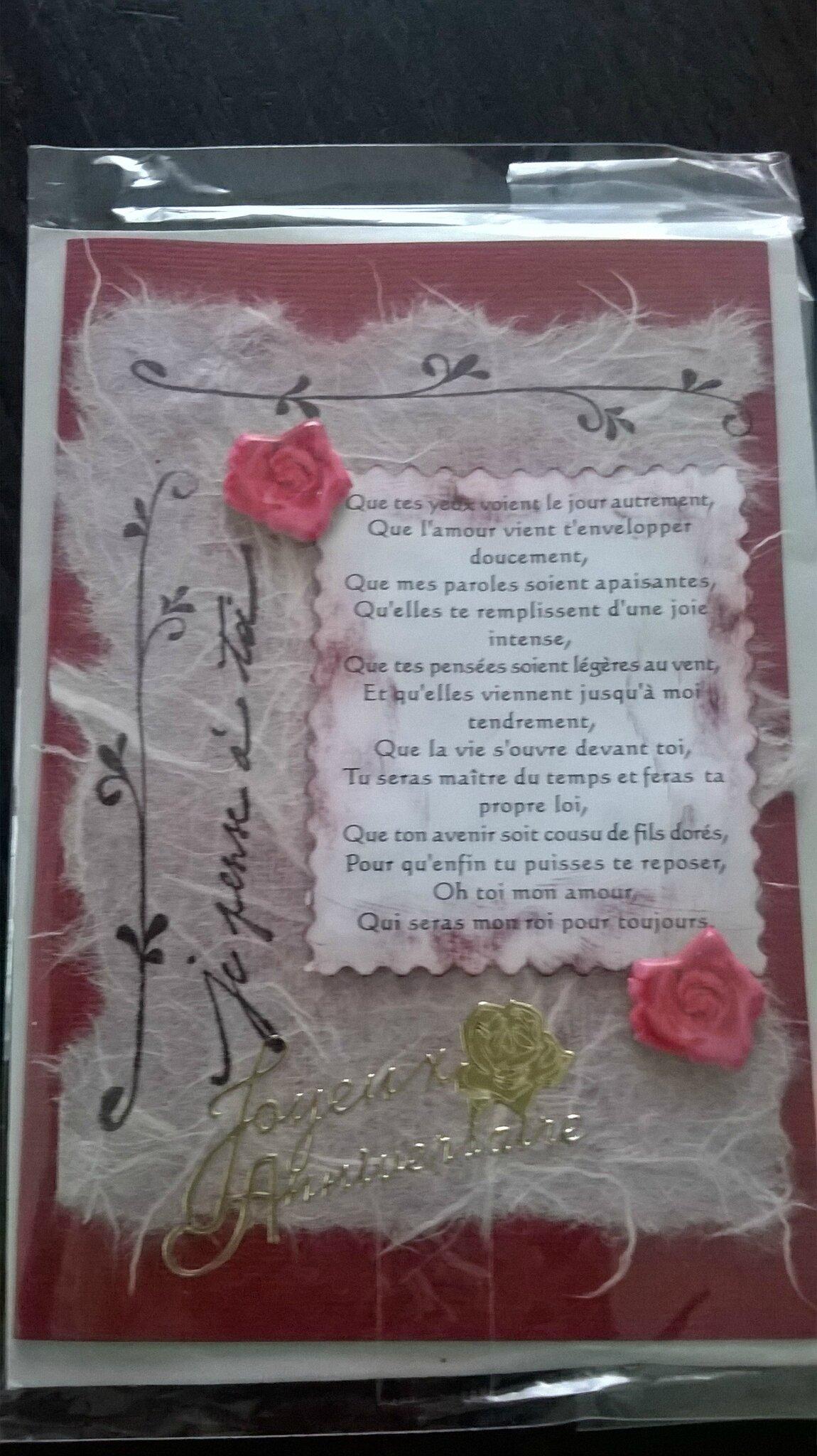 Carte3d Poésie Amour Pour Anniversaire Kathypatchouly