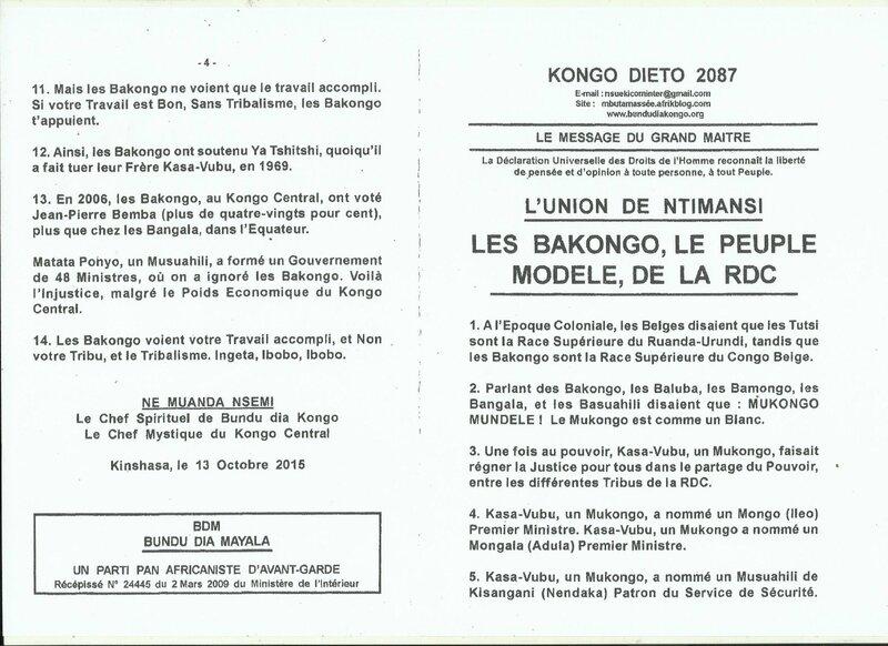 LES BAKONGO LE PEUPLE MODELE DE LA RDC a