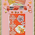Échange Orange 2019 Chez Manou (Carte scrapée 10x15cm) Isaphanie pour Marie de Clessé 3