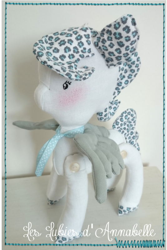 peluche doudou poney garçon little poney