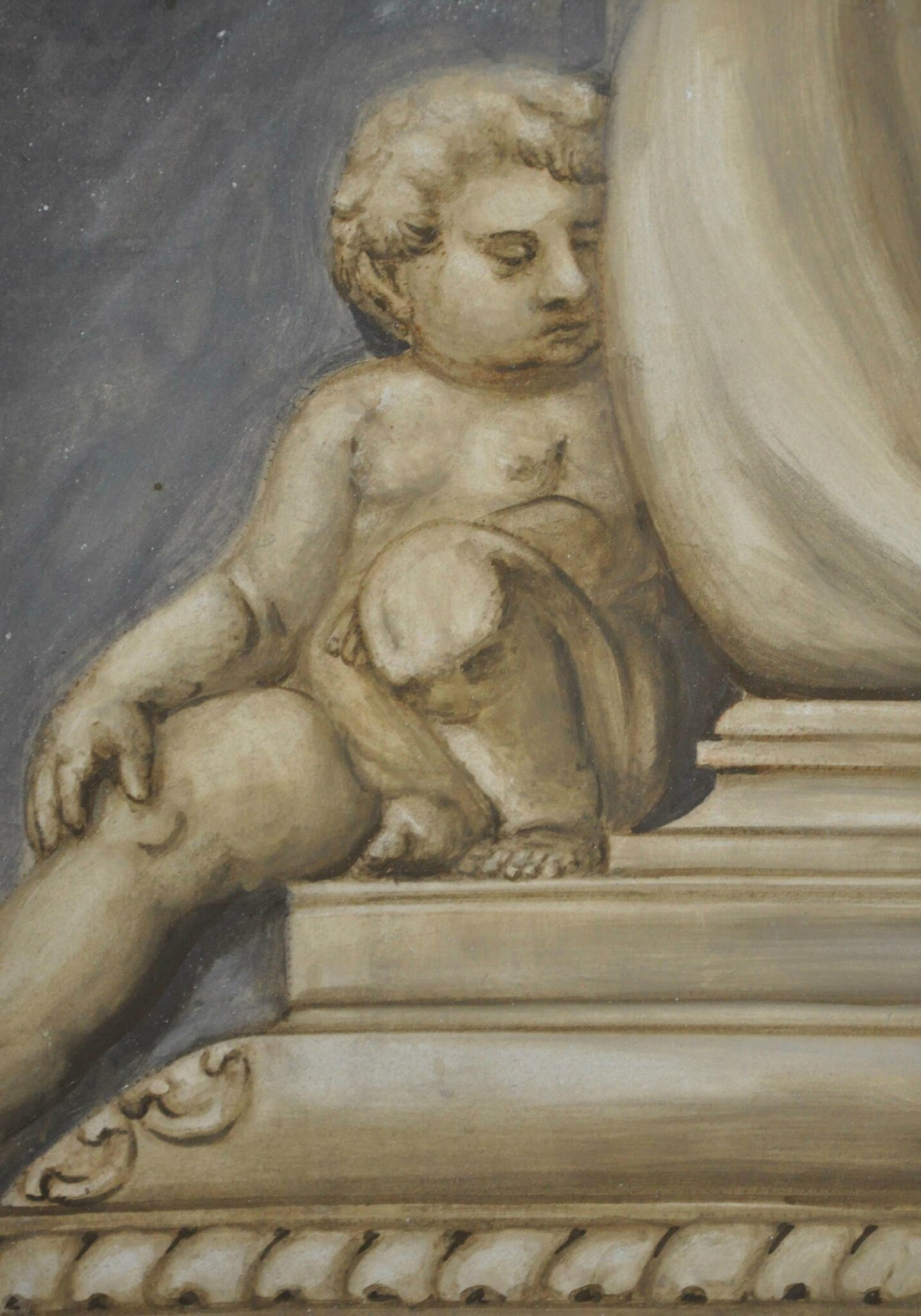 putto à fresco