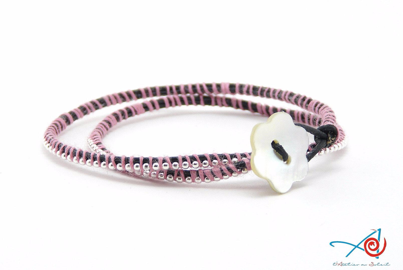 Bracelet wrap chaîne à billes