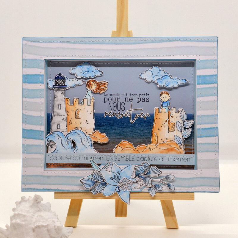cadre- le monde est trop petit- vue de face#1-collection couleur ocean-chouflowers-claire scrapat home
