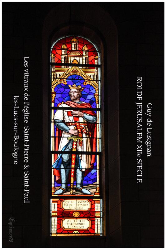 Guy de Lusignan Roi de Jérusalem vitraux les Lucs sur Boulogne