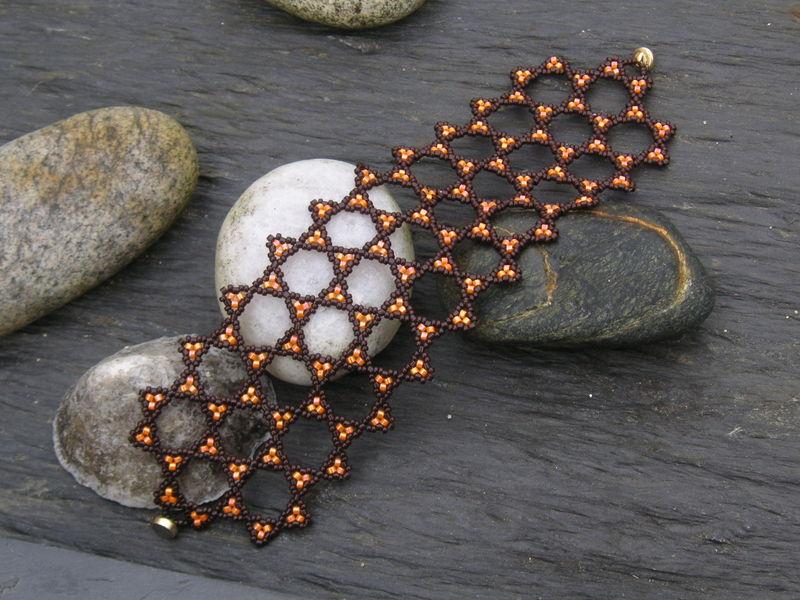Bracelet Archimède's star chocolat orange