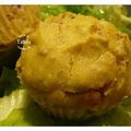 Muffins ricotta, mozza, jambon et olives vertes au basilic