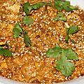 Poulet sauce cacahuetes