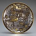 Sassanian silver gilt plate with a royal hunt, 7th century c.e.