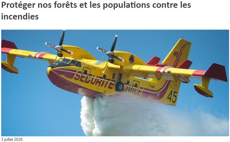 2020 07 03 Ministère de l'Intérieur Protéger nos forêts et les population contre les incendies