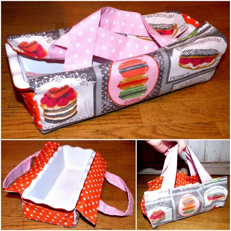 sac à cake patisseries orange et rose