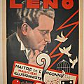 Affiche de magie leno cartes magic posters