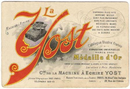yost-machine a ecrire