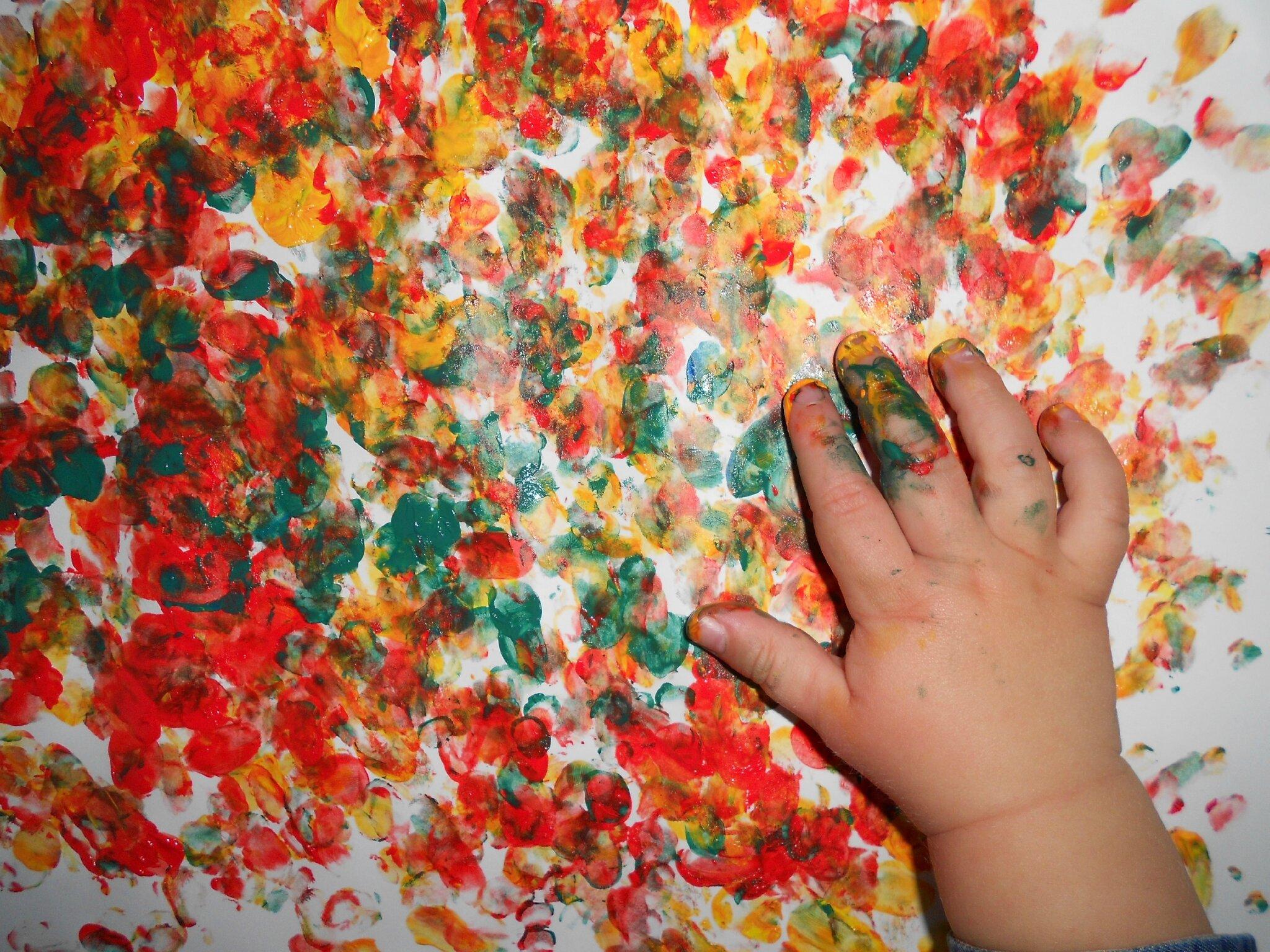 Peinture avec les doigts