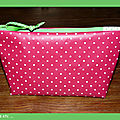 trousse pois rose