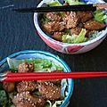 La tentation de la geisha : poulet au gingembre à la japonaise pour la saint valentin