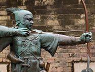 Statue de Robin des Bois près du château de Nottingham