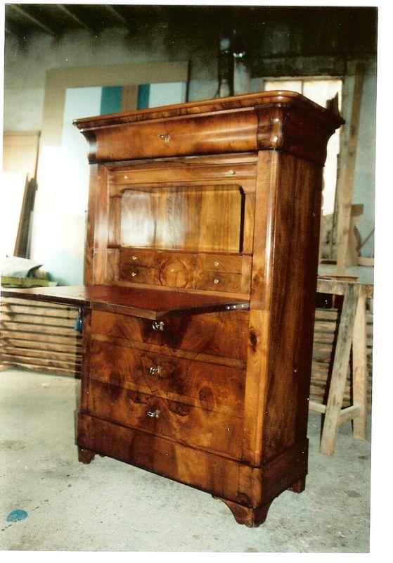 restauration d 39 un secr taire menuiserie ebenisterie dominique lathuilliere. Black Bedroom Furniture Sets. Home Design Ideas