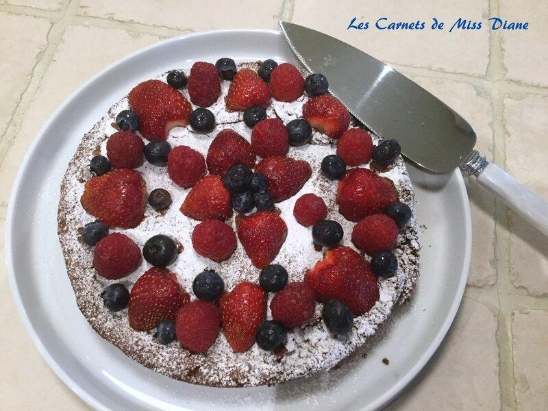Gâteau mousseline au chocolat, sans gluten et sans lactose