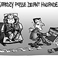 Sarkozy passe devant hollande